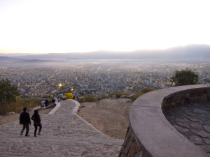 The city of Cochabamba, as seen from the Cerro de San Pedro. Image created with a Canon S95.